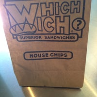 Photo taken at Which Wich? Superior Sandwiches by Karla R. on 7/3/2014