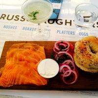 Photo taken at Russ & Daughters Café by Alessandro on 12/12/2014