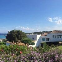 Photo taken at Hotel Romazzino, Costa Smeralda by Annie M. on 7/25/2015