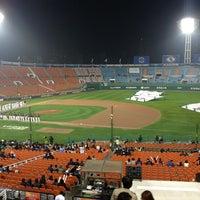 Photo taken at Sajik Baseball Stadium by 아일랜드 on 11/8/2012