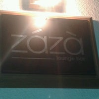 Photo taken at Zázà Lounge Bar by Danny P. on 10/2/2012
