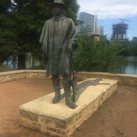 Photo taken at Stevie Ray Vaughan Statue by Vitaly S. on 6/4/2017