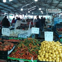 Photo taken at Queen Victoria Market by Bruce R. on 7/12/2013