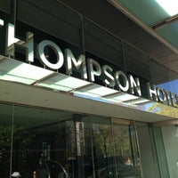 Photo taken at Thompson Hotel by Dean G. on 5/5/2013