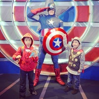 Photo taken at Captain America: The Living Legend and Symbol of Courage by ginger k. on 3/1/2014