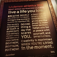 Photo taken at lululemon athletica by Winnie L. on 12/29/2012