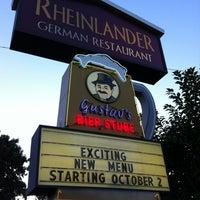 Photo taken at Rheinlander German Restaurant by Eric L. on 10/1/2012