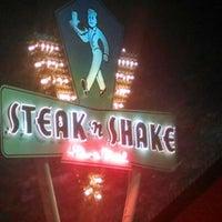 Photo taken at Steak 'n Shake by Jake A. on 4/1/2014
