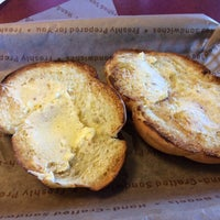 Photo taken at Einstein Bros Bagels by Sharon T. on 3/30/2014