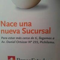 Photo taken at BancoEstado by Eduardo D. on 10/1/2012
