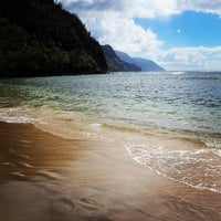 Photo taken at Ke'e Beach by Kristin L. on 8/5/2013