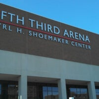 Photo taken at Fifth Third Arena | Myrl H Shoemaker Center by Aaron B. on 12/22/2012