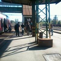 Photo taken at Tatabánya vasútállomás by Dávid K. on 10/19/2012