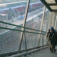 Photo taken at Tatabánya vasútállomás by Dávid K. on 11/8/2012