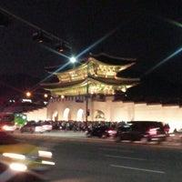 Photo taken at Gwanghwamun by Jung-hyun C. on 10/5/2012
