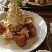 Photo taken at CAFE ZARAME by sakura on 4/7/2013