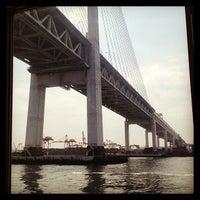 Photo taken at Yokohama Bay Bridge by Lamsus C. on 3/17/2013