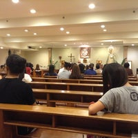 Photo taken at Chapel of the Holy Family by Louie Q. on 4/13/2013