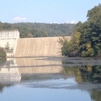 Photo taken at Loch Raven Dam by Angie M. on 10/5/2013