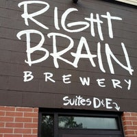 Photo taken at Right Brain Brewery by Ben H. on 10/6/2012