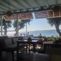 Photo taken at Hotel Paros Beach Cafe by Anastasia K. on 8/18/2013