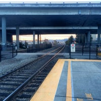 Photo taken at Hayward Park Caltrain Station by Josh M. on 1/21/2014