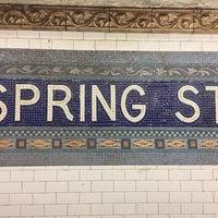 Photo taken at MTA Subway - Spring St (6) by Gary J. on 5/7/2017