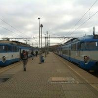 Photo taken at Železniční stanice Praha-Libeň by Martin C. on 11/8/2012