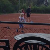 Photo taken at Cafetaria tennis 2000 by Rebekah D. on 4/19/2014