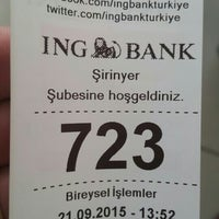 Photo taken at ING Bank by Mustafa A. on 9/21/2015
