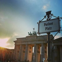 Photo taken at Pariser Platz by Dean B. on 1/13/2013