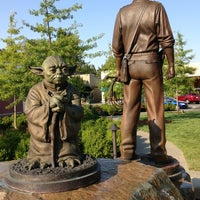 Photo taken at Yoda Statue by Howard C. on 7/21/2013