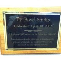 Photo taken at Ty Boyd Studio Newstalk 1110am WBT by Chris M. on 11/13/2012