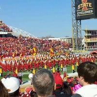 Photo taken at Jack Trice Stadium by Haley M. on 11/3/2012