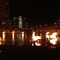 Photo taken at WaterFire Providence - Waterplace Park by Jonathan W. on 10/16/2012