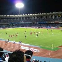 Photo taken at Todoroki Athletics Stadium by Syunball on 9/15/2012