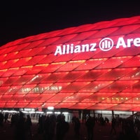 Photo taken at Allianz Arena by Ruslan I. on 11/24/2012