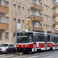 Photo taken at Skácelova (tram, bus) by Dávid B. on 1/30/2017