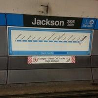 Photo taken at CTA - Jackson (Blue) by Corbach T. on 2/10/2013