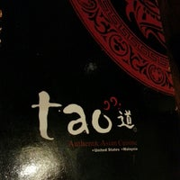 Photo taken at Tao Authentic Asian Cuisine 道 by Vickie L. on 2/15/2013