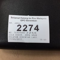Photo taken at Pejabat Pos Besar Seremban by Syaz A. on 3/17/2017