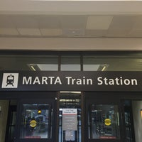 Photo taken at MARTA - Airport Station by Dorian Q. on 4/9/2016