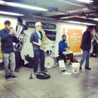 Photo taken at MTA Subway - 14th St/Union Square (4/5/6/L/N/Q/R/W) by Modesta M. on 11/25/2012