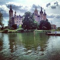 Photo taken at Schweriner Schloss by Valerio R. on 7/27/2013