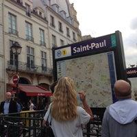 Photo taken at Métro Saint-Paul – Le Marais [1] by iLiana v. on 9/6/2016