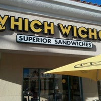 Photo taken at Which Wich? Superior Sandwiches by Chris M. on 2/26/2013