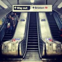 Photo taken at Brixton London Underground Station by Gbenga M. on 4/13/2013