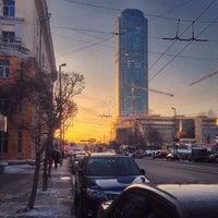 Photo taken at Остановка «Дом Кино» by kostasleko on 1/27/2015