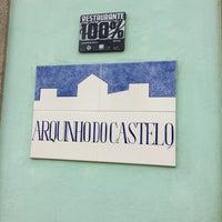 Photo taken at Arquinho do Castelo by Meia V. on 2/25/2015