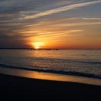 Photo taken at Cape Henry Inn Beach by Milissa S. on 2/24/2014